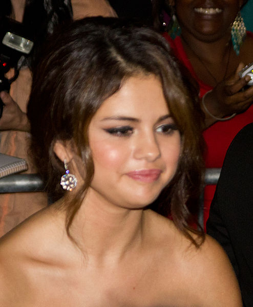 Selena Gomez backed her car into fence at Salon