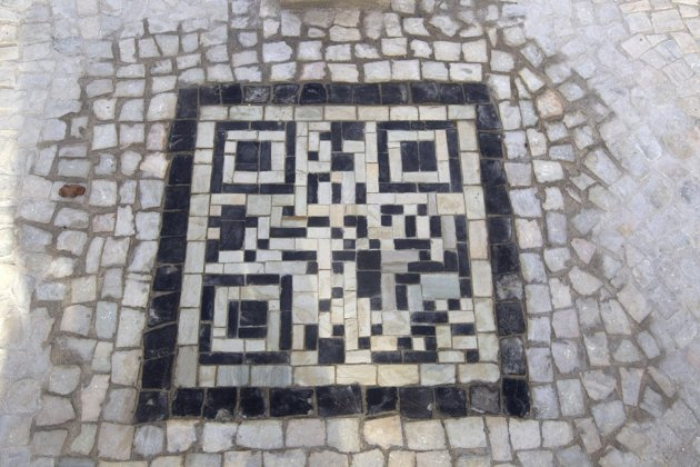 Bar codes on sidewalks