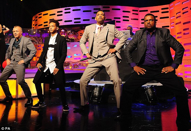 Swing it: Will Smith, Alfonso Ribeiro and DJ Jazzy Jeff reunite for the show - the Carlton dance comes right back into action