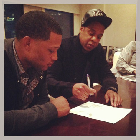New York Yankees second baseman Robinson Cano, in the final season of a $57 million contract, has left agent Scott Boras to sign with a company founded by Jay-Z.
