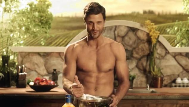 One Million Mothers, a conservative group, was angered by a Kraft advertisement in People Magazine that featured a male model (shown here) with just a picnic blanket covering his private parts.