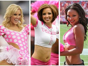 NFL Cheerleaders Breast Cancer Awareness Month (PHOTO)