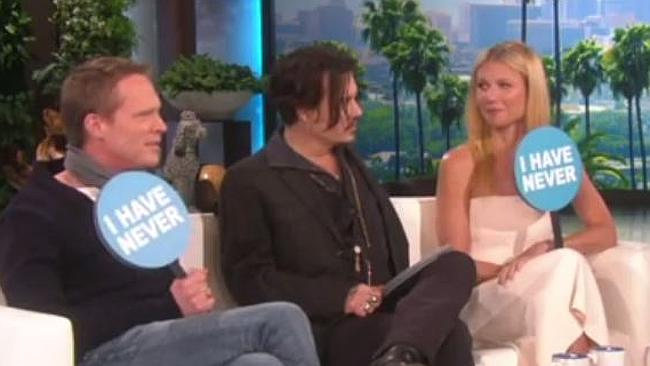 Gwyneth Paltrow, Johnny Depp Admit to Joining the Mile High Club in Never Have I Ever With Ellen DeGeneres: Watch  Read more: http://www.usmagazine.com/entertainment/news/gwyneth-paltrow-johnny-depp-reveal-dirty-secrets-in-never-have-i-ever-2015221#ixzz3Ppko5p6I  Follow us: @usweekly on Twitter | usweekly on Facebook
