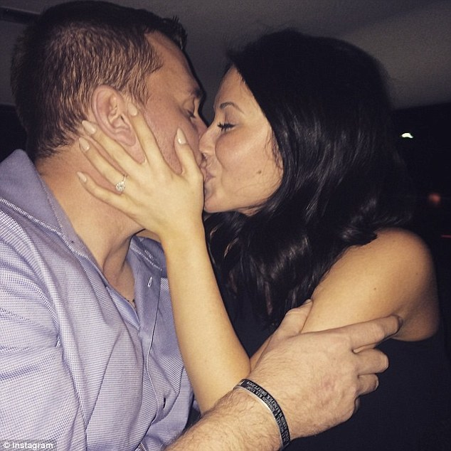 Romantic: Bristol Palin, the 24-year-old daughter of the former Alaska governor Sarah Palin shared the news of her engagement to Dakota Meyer on her Intsagram page on Saturday