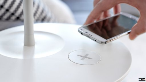 IKEA Charging furniture: Furniture Will Wirelessly Charge Mobile Devices