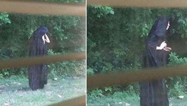 Cloaked figure In Gastonia NC:  Strange Mystery Solved? (PHOTO)