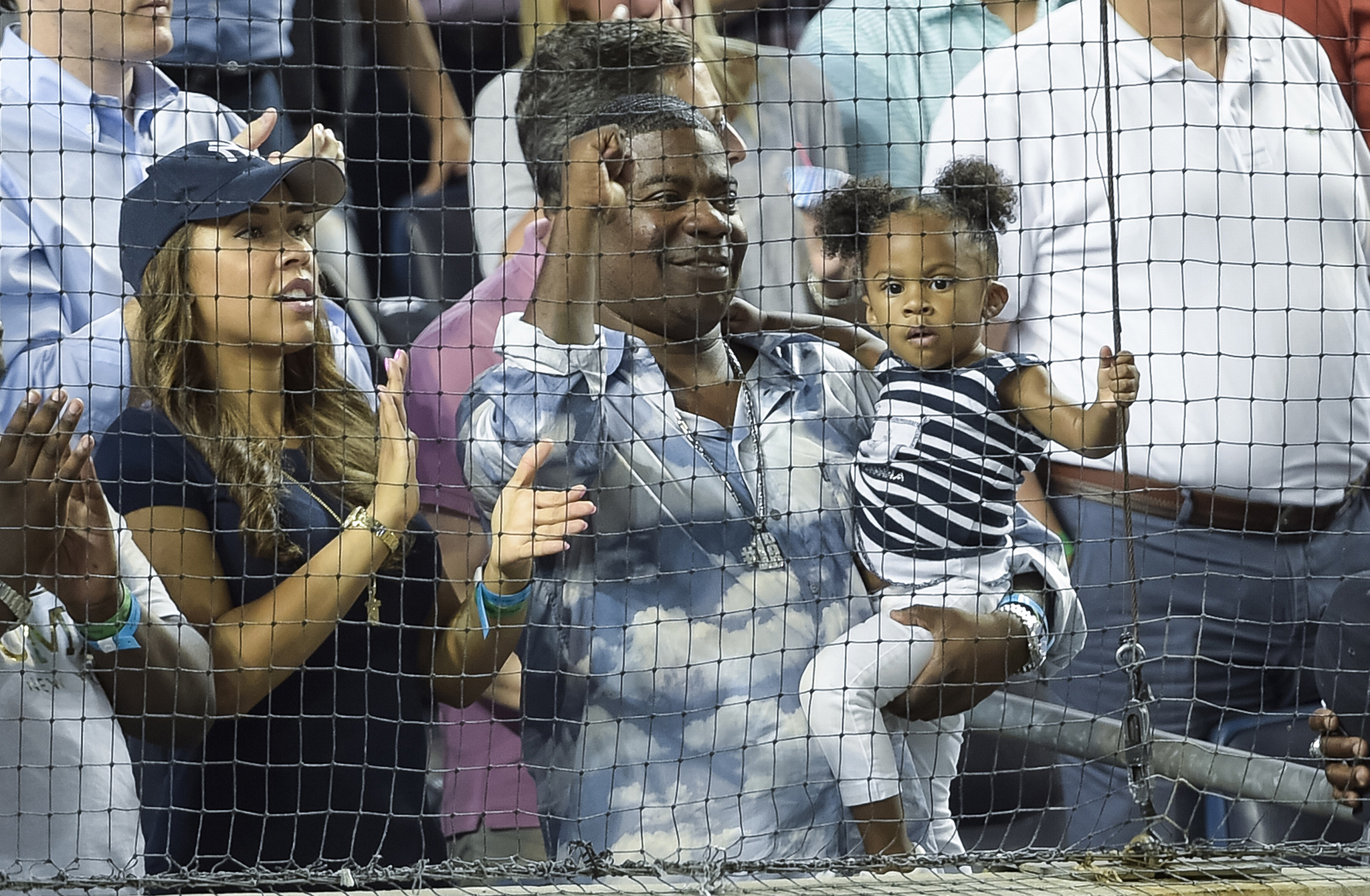 Tracy Morgan attends his first Yankees game since the car crash that nearly killed him (Getty Images)