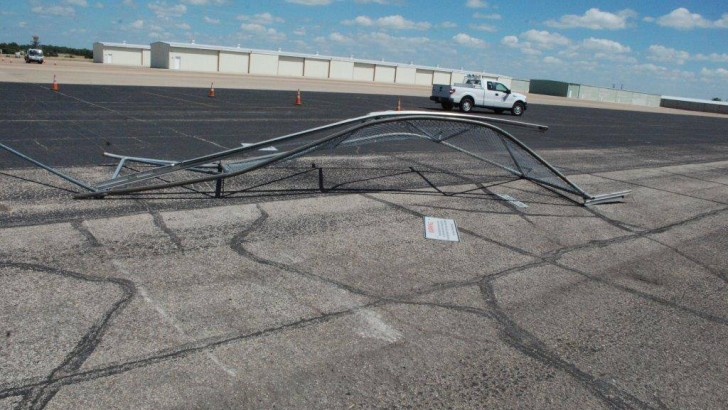 Man tries to steal jet, crashes into airport (PHOTO)