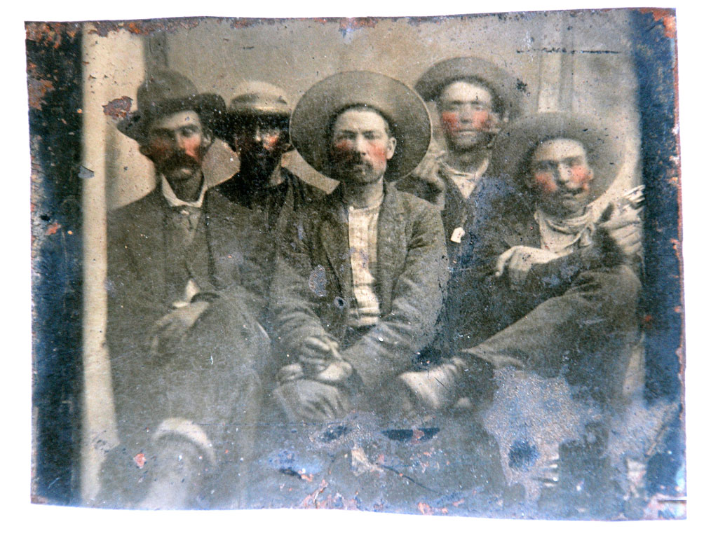 """Provenance is the key in these situations, and that is usually difficult to establish,"" Hutton said. ""Abrams has a very interesting photograph, but only as a historic photograph of cowboys,"" he added. ""The character that he identifies as Pat Garrett [left], I think, does have a strong resemblance to the one photograph we have of Pat Garrett when he was young,"" Hutton said. ""Otherwise, I don't see any resemblance in any of the others in the photograph, and I certainly don't see any resemblance to the character he says is Billy [second from right] – but then, I'm no photography expert."""