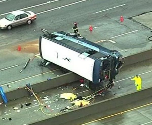 Bus crash Hwy 101