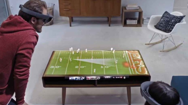 Microsoft Hololens football:  Will This Be The Future Of Television? (Video)