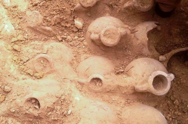 Ancient Roman coins unearthed, found inside clay pots