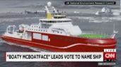 Boaty McBoatface:  Boat Wont Sail With Boaty McBoatface Name